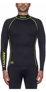 2019 Musto UPF50 Long Sleeve Rash Vest Black SUTS003