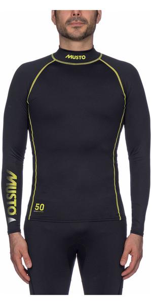 2018 Musto UPF50 Long Sleeve Rash Vest Black SUTS003
