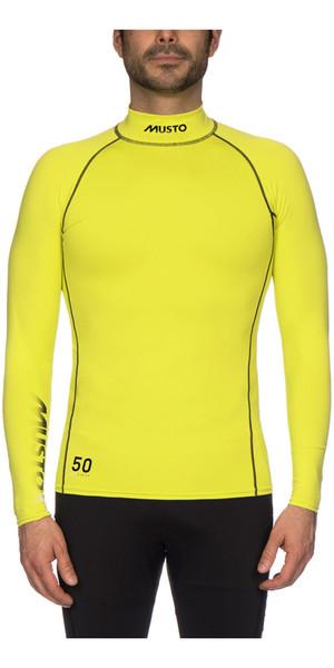 2018 Musto UPF50 Long Sleeve Rash Vest Sulphur Spring SUTS003