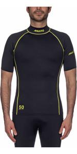 2019 Musto UPF50 Short Sleeve Rash Vest Black SUTS004