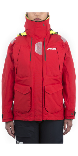 2019 Musto Dame BR2 Offshore Jacket True Red SWJK014