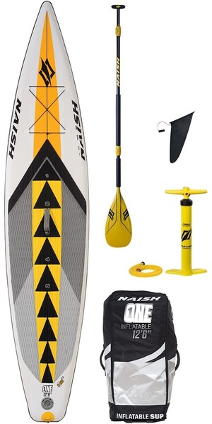 "2018 Naish SUP Air Nisco One 12'6 ""INC Pagaie, Sac, Pompe & Laisse"