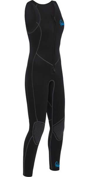 2019 Palm Damen Quantum 3mm Neopren Front Zip Long John SCHWARZ 12236