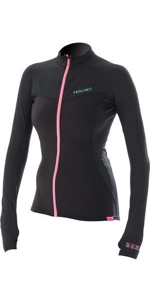 2018 Prolimit Womens Loosefit QD SUP Top Nero / Aqua 84700