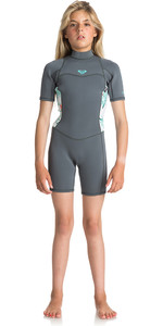 Roxy Junior Girls Syncro Series 2mm Flatlock Shorty Wetsuit ASH / PISTACCIO ERGW503004