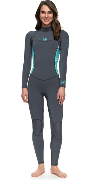 2018 Roxy Womens Syncro Series 3/2mm Flatlock Back Zip Wetsuit ASH / PISTACCIO ERJW103023