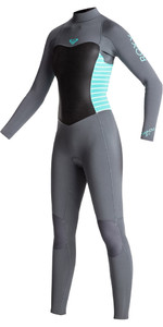 Roxy Junior Girls Syncro Series 3/2mm GBS Back Zip Wetsuit ASH / PISTACCIO ERGW103013