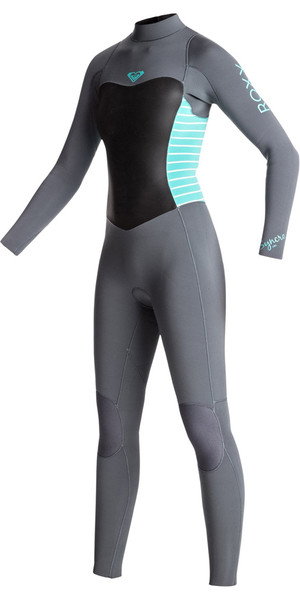 2018 Roxy Junior Girls Syncro Series 3/2mm GBS Back Zip Wetsuit ASH / PISTACCIO ERGW103013
