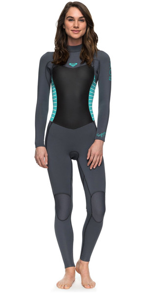 2018 Roxy Womens Syncro Series 3/2mm GBS Back Zip Wetsuit ASH / PISTACCIO ERJW103024