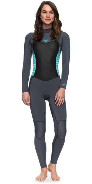 2018 Roxy Syncro Series 3/2mm GBS Back Zip Wetsuit ASH / PISTACCIO ERJW103024