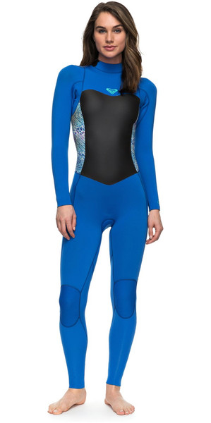 2018 Roxy Syncro Series 3/2mm GBS Back Zip Wetsuit SEA BLUE II ERJW103024
