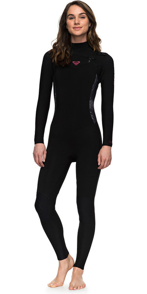 2018 Roxy Womens Syncro Series 3 / 2mm GBS Bryst Zip Wetsuit BLACK ERJW103025