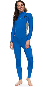 Roxy Womens Syncro Series 3/2mm GBS Chest Zip Wetsuit BLUE ERJW103025