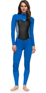 2018 Roxy Syncro Series 4/3mm GBS Back Zip Wetsuit BLUE ERJW103027