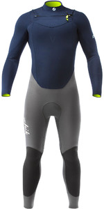 2019 Zhik Superwarm V 3.5mm Gbs Chest Zip Wetsuit Navy Stm1120