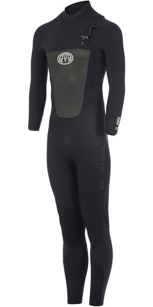 2018 Animal Lava 4 / 3mm GBS Chest Zip Wetsuit Negro AW7WL104