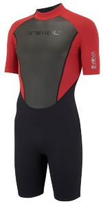 2018 Animal Nova 3 / 2mm Flatlock Wetsuit Shorty Red Vermelho AW8SN103 - ARMAZÉM 2º