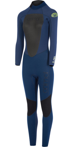 2018 Animal Womens Lava 5/4/3mm Back Zip GBS Wetsuit Dark Navy AW7WL301