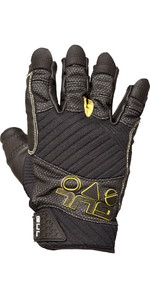2020 Gul Junior EVO Pro Short Finger Sailing Glove Black GL1299-B4