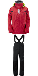 Henri Lloyd Wave Inshore Jacket Y00353 & Hi-Fit Trousers Y10162 COMBI SET RED / BLACK
