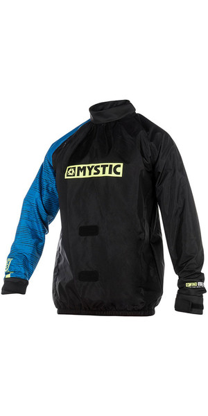 2018 Mystic Kite Windstopper Jacket Black / Blue 140160