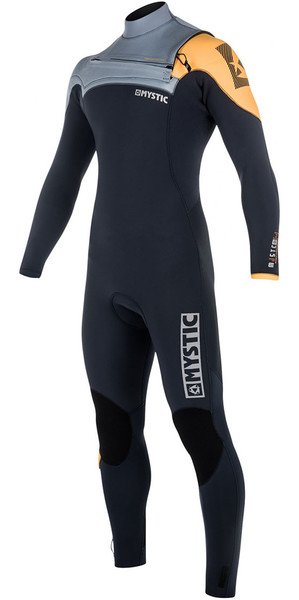 2018 Mystic Majestic 3/2mm GBS Chest Zip Wetsuit - Orange 180004