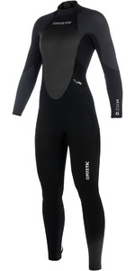 2019 Mystic Star Womens 3 / 2mm GBS Voltar Zip Wetsuit - Preto / Cinza 180030