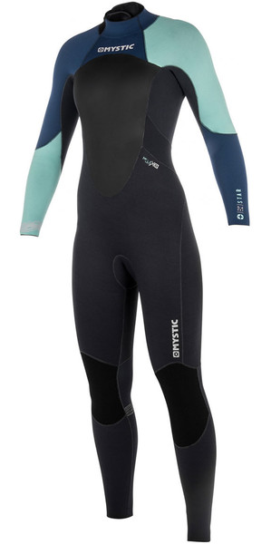 2018 Mystic Star Womens 3/2mm GBS Back Zip Wetsuit - Navy 180030