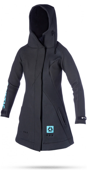 2018 Mystic Damen Rez Team SHARKSKIN Neoprenjacke in Schwarz 130430