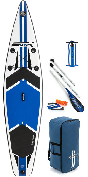 "2018 STX 11'6 x 32 ""Touring Opblaasbare Stand Up Paddle Board, Paddle, Tas, Pomp & Leash BLAUW 70621"