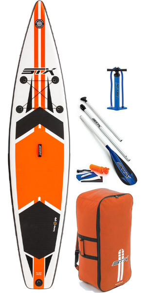 "2018 STX 11'6 x 32 ""Touring Aufblasbare Stand Up Paddle Board, Paddel, Pumpe, Tasche & Leine Orange 70621"
