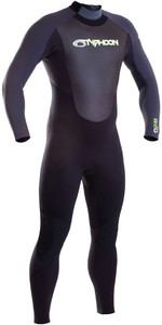2019 Typhoon Storm 5/4 5/4/3mm Wetsuit Met Back Zip Grijs 250661