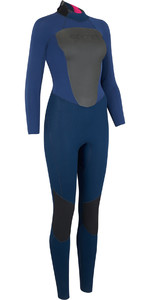 2019 Animal Womens Lava 5/4/3mm Back Zip GBS Wetsuit Navy AW9WQ301
