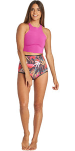 2019 Billabong Damen Hightide 1mm Neopren Shorts Tropisch Q41g03