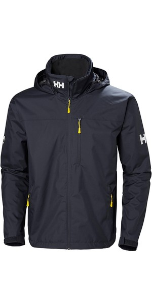 2019 Helly Hansen Crew Hooded Jacket Graphite Blue 33875