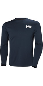 2019 Helly Hansen Hh Lifa Luz Active Ls Baselayer Navy 49331