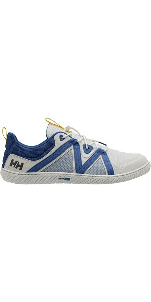 2019 Helly Hansen HP Foil F-1 Sailing Shoe Off-White / Olympian Blue 11315