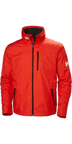 2019 Helly Hansen Hooded Crew Mid Layer Jacket Cherry Tomato 33874