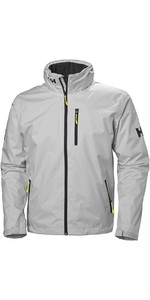 2019 Helly Hansen Hooded Crew Mid Layer Jacket Grigio Nebbia 33874