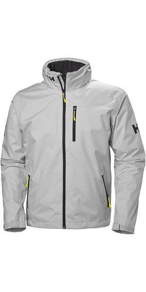 2019 Helly Hansen Hooded Crew Mid Layer Jacket Grå Fog 33874