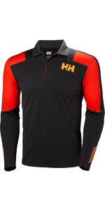 2019 Helly Hansen Lifa Active Light Ls Polo Ebenholz 49332