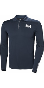 2019 Helly Hansen Lifa Active Lumière Ls Polo Navy 49332