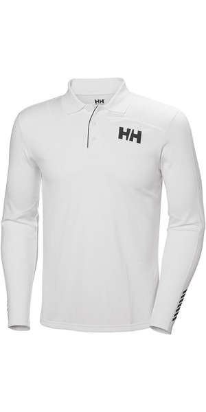 2019 Helly Hansen Lifa Active Light LS Polo Weiß 49332