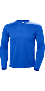 2019 Helly Hansen Tech Crew Long Sleeve Base Layer Olympian Blue 48364