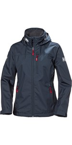 2020 Helly Hansen Womens Crew Hooded Jacket Navy 33899