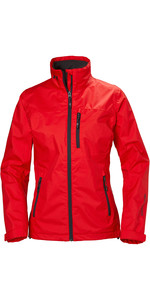 2020 Helly Hansen Womens Crew Jacket Alert Red 30297