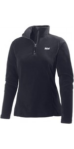 2021 Helly Hansen Womens Daybreaker 1/2 Zip Fleece Black 50845