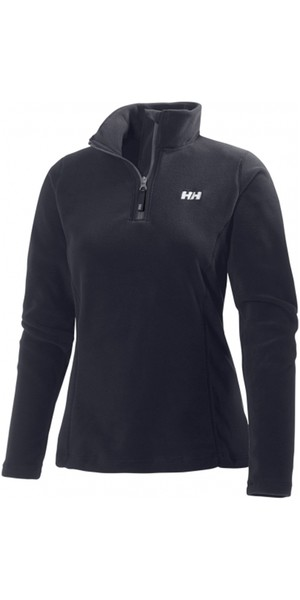 2019 Helly Hansen Daybreaker voor dames 1/2 Zip Fleece Black 50845