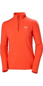 2019 Helly Hansen Daybreaker voor dames 1/2 Zip Fleece Cherry Tomato 50845