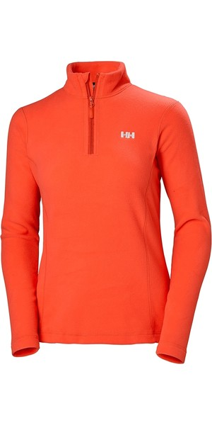 2019 Helly Hansen Womens Daybreaker 1/2 Zip in pile Cherry Tomato 50845